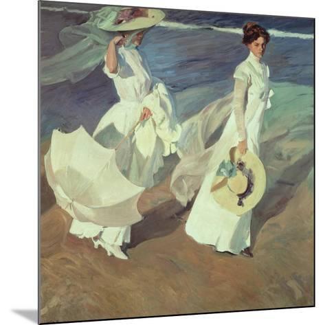 Women Walking on the Beach, 1909-Joaqu?n Sorolla y Bastida-Mounted Giclee Print