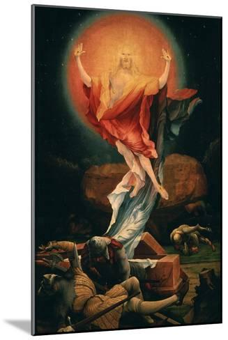 The Resurrection of Christ, from the Isenheim Altarpiece, C.1515 (Detail)-Matthias Gr?newald-Mounted Giclee Print