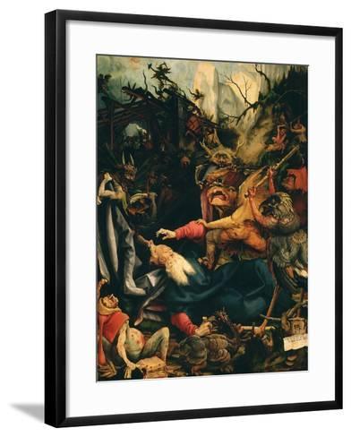 The Temptation of Saint Anthony, from the Isenheim Altarpiece, C.1515 (Detail)-Matthias Gr?newald-Framed Art Print