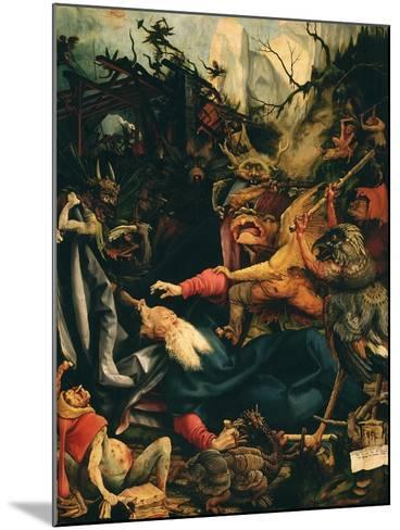The Temptation of Saint Anthony, from the Isenheim Altarpiece, C.1515 (Detail)-Matthias Gr?newald-Mounted Giclee Print