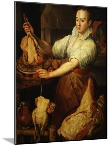 The Cook by Vincenzo Campi 1536-91 Italian-Vincenzo Campi-Mounted Giclee Print
