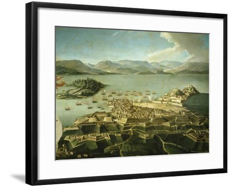 View of Town and Fortifications on Island of Corfu Venetian Until 1797 Now Greek--Framed Art Print