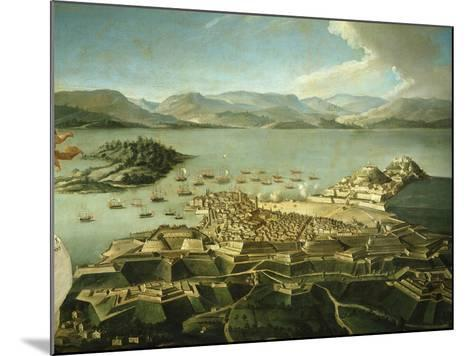 View of Town and Fortifications on Island of Corfu Venetian Until 1797 Now Greek--Mounted Giclee Print