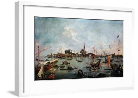 Le Doge Sur Le Bucentaure À San Nicolo Di Lido À Venise Le Jour De L'Ascension-Francesco Guardi-Framed Art Print