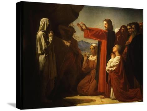 Resurrection of Lazarus-Leon Bonnat-Stretched Canvas Print