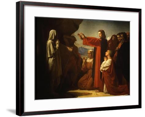 Resurrection of Lazarus-Leon Bonnat-Framed Art Print