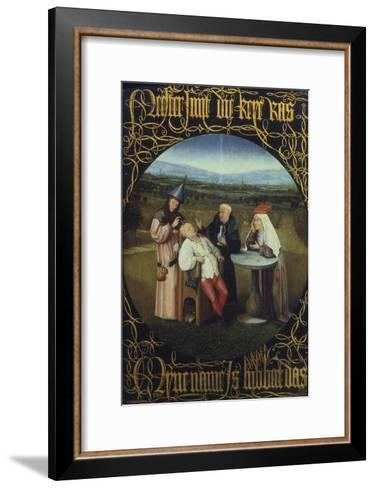 The Cure for Folly or Extraction of Stone from Madman 1475-80-Hieronymus Bosch-Framed Art Print