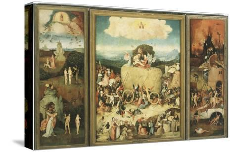 The Haywain, 1485-Hieronymus Bosch-Stretched Canvas Print