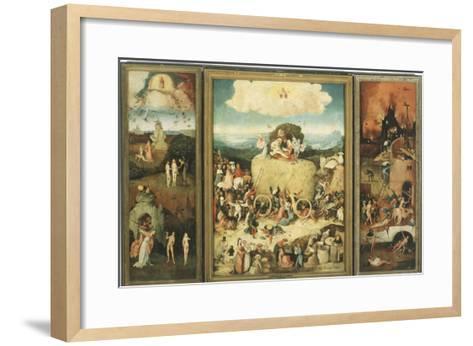 The Haywain, 1485-Hieronymus Bosch-Framed Art Print