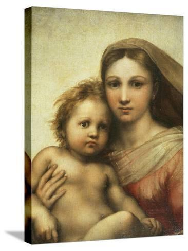 The Sistine Madonna, Madonna and Child with Pope Sixtus II and Saint Barbara, C. 1512-Raphael-Stretched Canvas Print