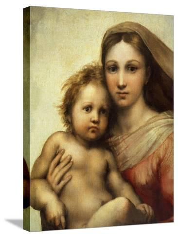 The Sistine Madonna, Madonna and Child with Pope Sixtus II and Saint Barbara, C. 1512, Detail-Raphael-Stretched Canvas Print