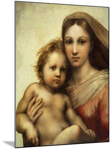 The Sistine Madonna, Madonna and Child with Pope Sixtus II and Saint Barbara, C. 1512, Detail-Raphael-Mounted Giclee Print