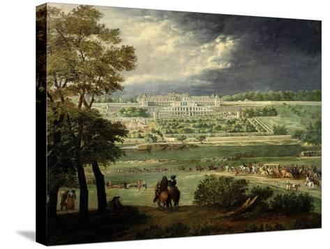 Le Château Neuf De Saint-Germain Et Les Jardins, Lors De La Reconstruction Des Terrasses (1664-65)-Adam Frans van der Meulen-Stretched Canvas Print