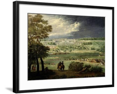 Le Château Neuf De Saint-Germain Et Les Jardins, Lors De La Reconstruction Des Terrasses (1664-65)-Adam Frans van der Meulen-Framed Art Print