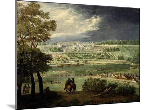 Le Château Neuf De Saint-Germain Et Les Jardins, Lors De La Reconstruction Des Terrasses (1664-65)-Adam Frans van der Meulen-Mounted Giclee Print