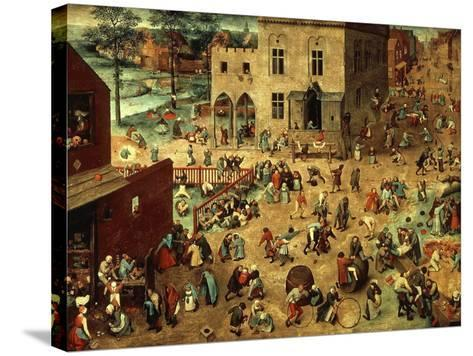 Children's Games, 1560-Pieter Bruegel the Elder-Stretched Canvas Print