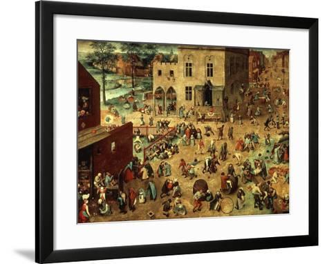 Children's Games, 1560-Pieter Bruegel the Elder-Framed Art Print
