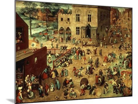 Children's Games, 1560-Pieter Bruegel the Elder-Mounted Giclee Print