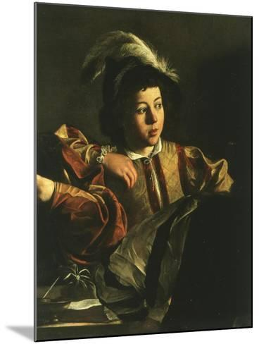 Detail of Young Boy from the Calling of Saint Matthew, 1599-1600-Caravaggio-Mounted Giclee Print