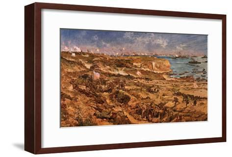 Disembarkation of Army at Salonica, Greece, 25 April 1915, English Engraving by Charles Dixon--Framed Art Print