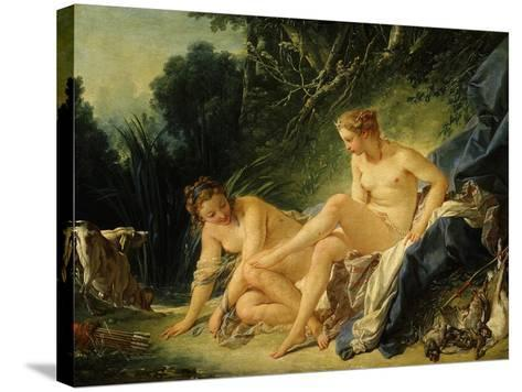 Diane Sortant Du Bain (Goddess Diana after Bathing) (Exhibited 1742)-Francois Boucher-Stretched Canvas Print