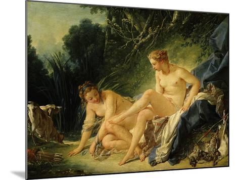 Diane Sortant Du Bain (Goddess Diana after Bathing) (Exhibited 1742)-Francois Boucher-Mounted Giclee Print