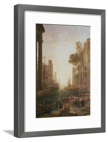 Embarkation at Ostia 1600-82-Claude Lorraine-Framed Art Print