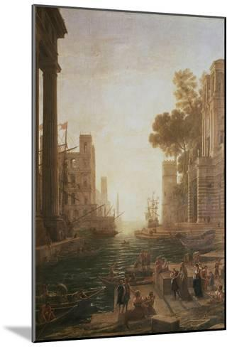 Embarkation at Ostia 1600-82-Claude Lorraine-Mounted Giclee Print