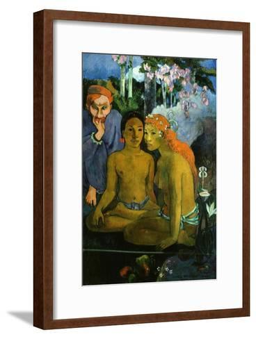Contes Barbares, or Barbaric Tales, Dutch Artist Jacob Meyer De Haan and Two Polynesian Women, 1902-Paul Gauguin-Framed Art Print