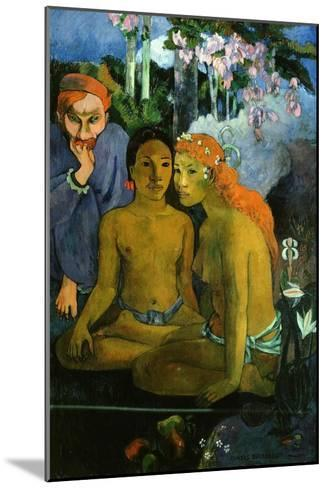 Contes Barbares, or Barbaric Tales, Dutch Artist Jacob Meyer De Haan and Two Polynesian Women, 1902-Paul Gauguin-Mounted Giclee Print