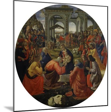 Adoration of the Magi C.1487-Ridolfo Ghirlandaio-Mounted Giclee Print