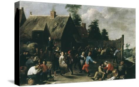 Village Festival, 1637-David Teniers the Younger-Stretched Canvas Print