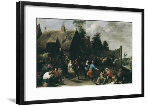 Village Festival, 1637-David Teniers the Younger-Framed Art Print