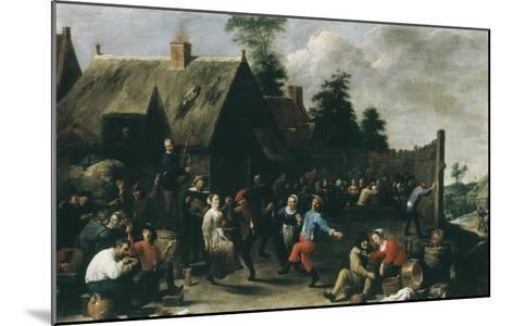 Village Festival, 1637-David Teniers the Younger-Mounted Giclee Print