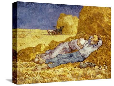 La Méridienne Ou La Sieste, Siesta at Noon, after 1866 Pastel Drawing by Millet, 1890-Vincent van Gogh-Stretched Canvas Print