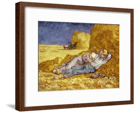 La Méridienne Ou La Sieste, Siesta at Noon, after 1866 Pastel Drawing by Millet, 1890-Vincent van Gogh-Framed Art Print