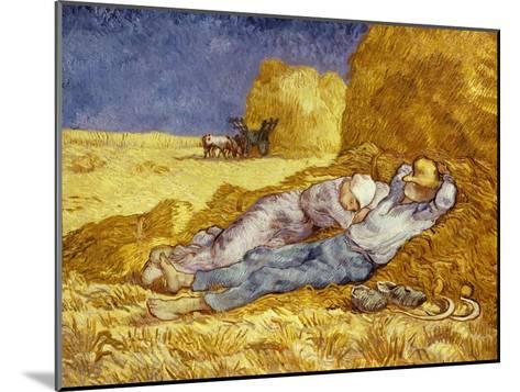 La Méridienne Ou La Sieste, Siesta at Noon, after 1866 Pastel Drawing by Millet, 1890-Vincent van Gogh-Mounted Giclee Print