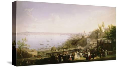 Inauguration of the Naples - Portici Railway, 1839-Salvatore Fergola-Stretched Canvas Print