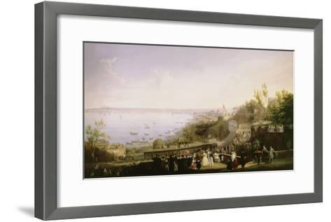 Inauguration of the Naples - Portici Railway, 1839-Salvatore Fergola-Framed Art Print