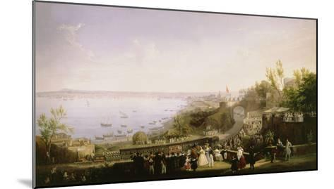Inauguration of the Naples - Portici Railway, 1839-Salvatore Fergola-Mounted Giclee Print