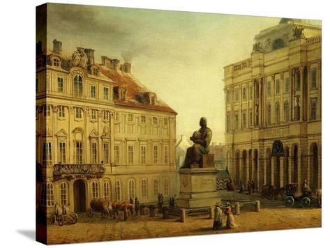 Copernic Square, Warsaw, Poland, 19th Century-Wladyslaw Bakalowicz-Stretched Canvas Print