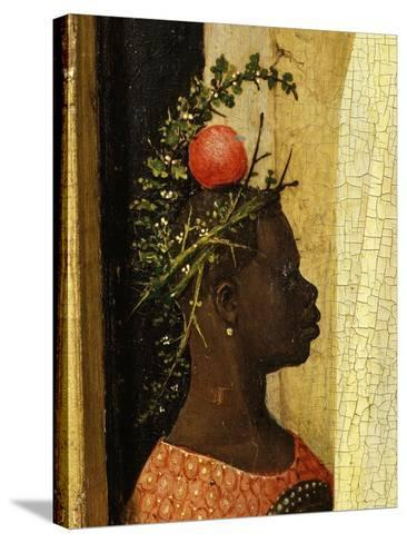 Young Black Page of King Gaspard with Apple on Head, from Adoration of the Magi, Tripytch-Hieronymus Bosch-Stretched Canvas Print