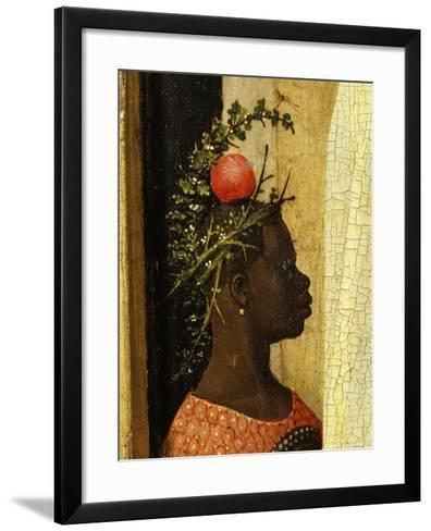 Young Black Page of King Gaspard with Apple on Head, from Adoration of the Magi, Tripytch-Hieronymus Bosch-Framed Art Print
