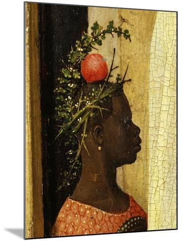 Young Black Page of King Gaspard with Apple on Head, from Adoration of the Magi, Tripytch-Hieronymus Bosch-Mounted Giclee Print