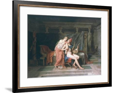 Les Amours De Pâris Et D'Hélène (Love of Paris and Helen), 1788-Jacques-Louis David-Framed Art Print