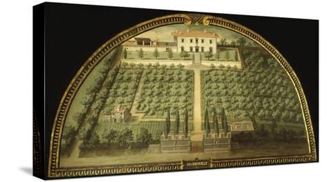 Villa Marignolle, Tuscany, Italy, from Series of Lunettes of Tuscan Villas, 1599-1602-Giusto Utens-Stretched Canvas Print
