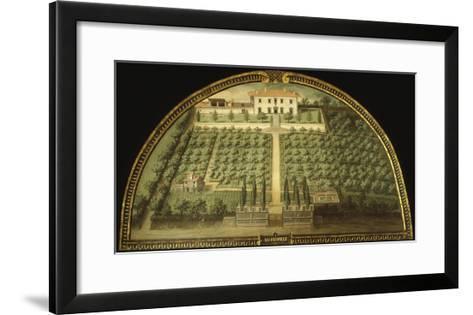 Villa Marignolle, Tuscany, Italy, from Series of Lunettes of Tuscan Villas, 1599-1602-Giusto Utens-Framed Art Print