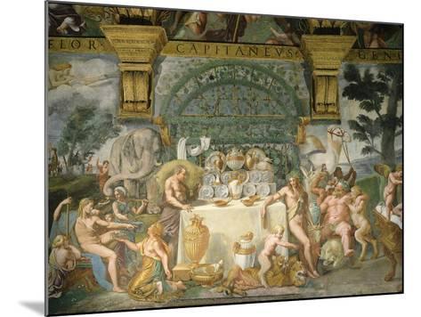 Assembly of the Gods, Fresco, 1525-35-Giulio Romano-Mounted Giclee Print