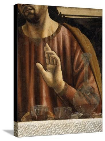 Hand of Saint James with Glasses and Carafe, from the Last Supper, Fresco C.1444-50 (Detail)-Andrea Del Castagno-Stretched Canvas Print