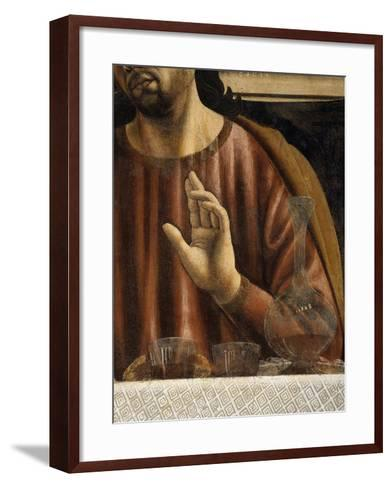 Hand of Saint James with Glasses and Carafe, from the Last Supper, Fresco C.1444-50 (Detail)-Andrea Del Castagno-Framed Art Print